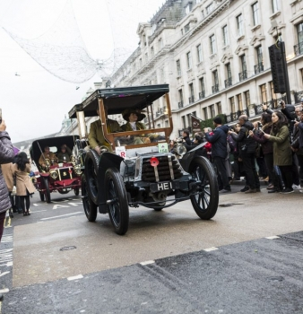 Time travellers on London's Regent Street