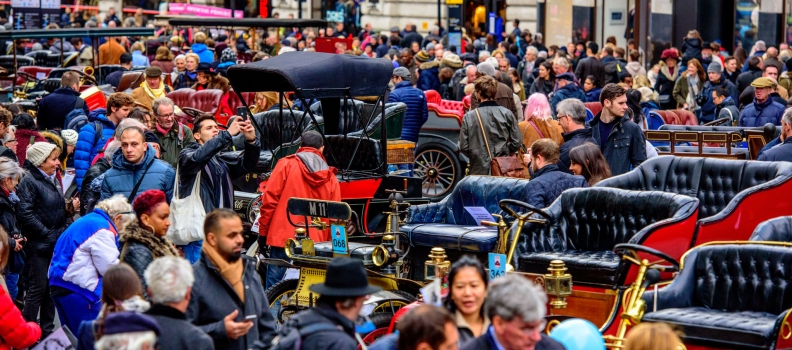 The final countdown to London's free motor show has begun
