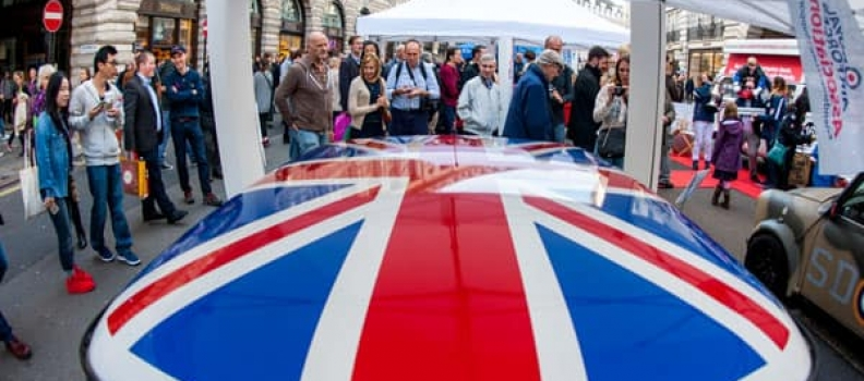 Classic cars celebrate milestone birthdays on Regent Street